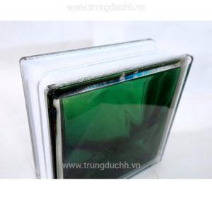 Gạch kính lấy sáng indonesia 19x19cm vân sóng xanh đậm