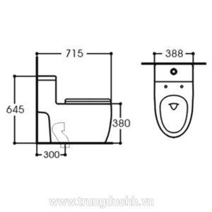 Bồn cầu một khối KOLNI AB2076