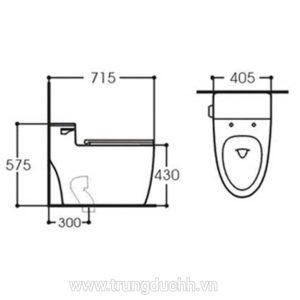 Bồn cầu một khối KOLNI AB2089S